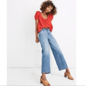Madewell • Petite Wide Leg Crop Jeans in Chesney